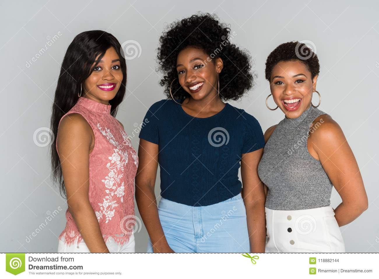 Download African American Women stock photo. Image of happy, sisters - 118882144