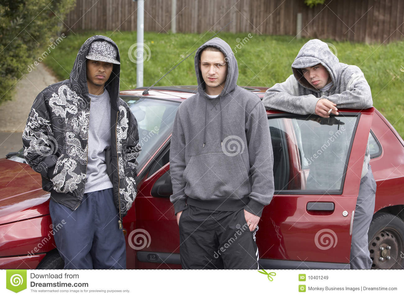 Group Of Young Men With Cars Stock Image Image 10401249