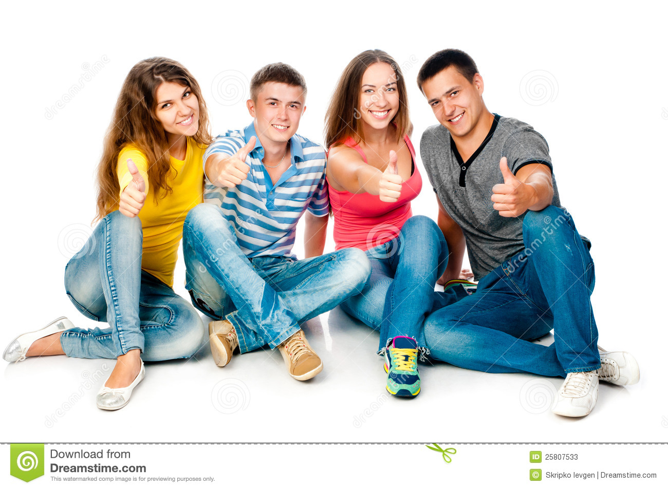 Group of young people with Group Of Young People