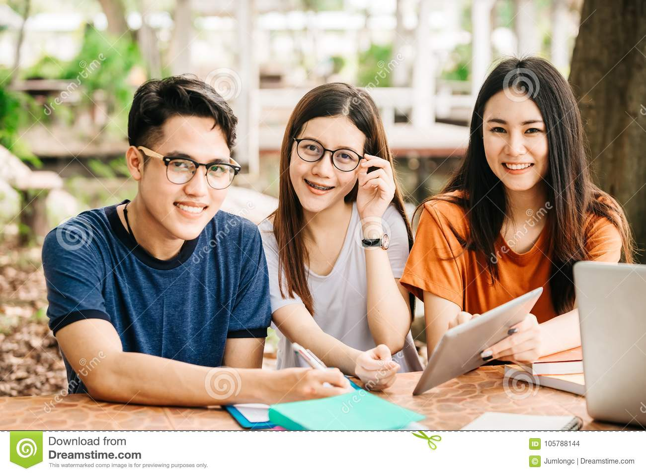 teen group asian Young
