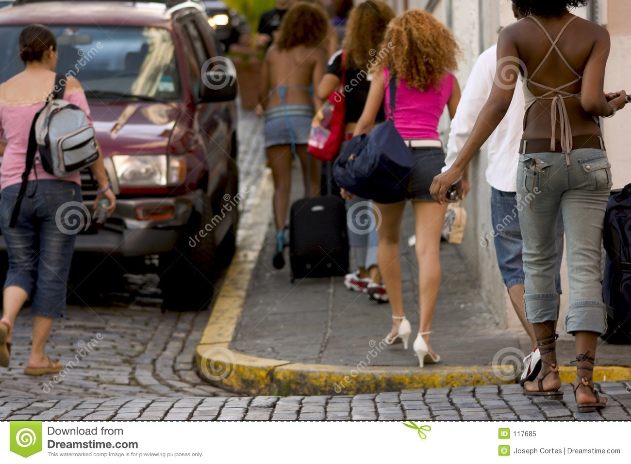 Download Group of young Tourist 2 stock image. Image of ladies, group - 117685
