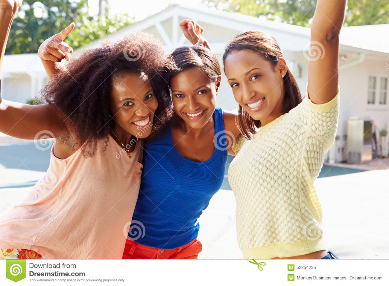 Group Of Young Women Cheering At Basketball Match