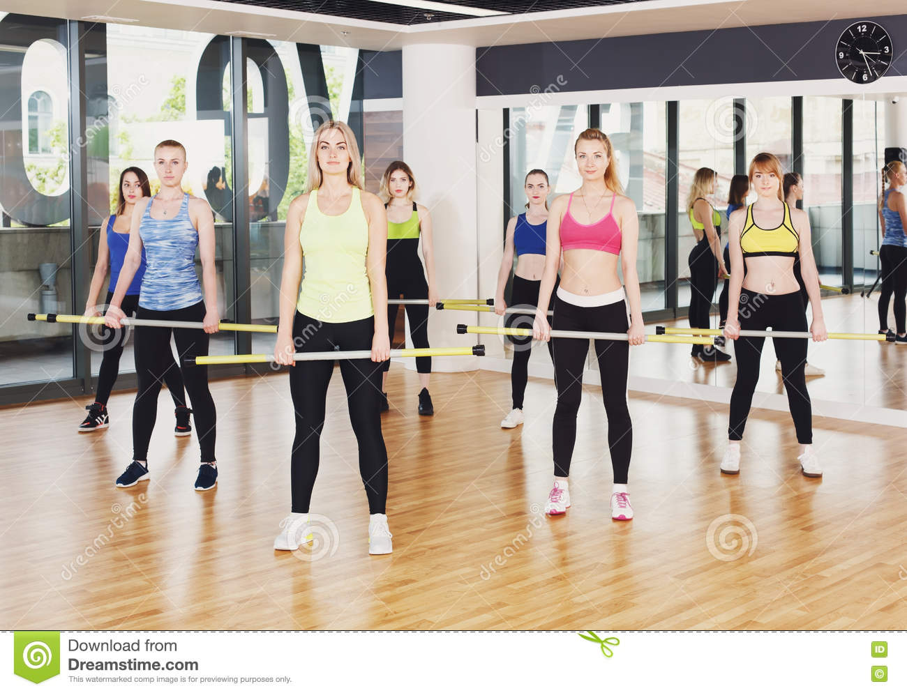 Young girls exercise class 14