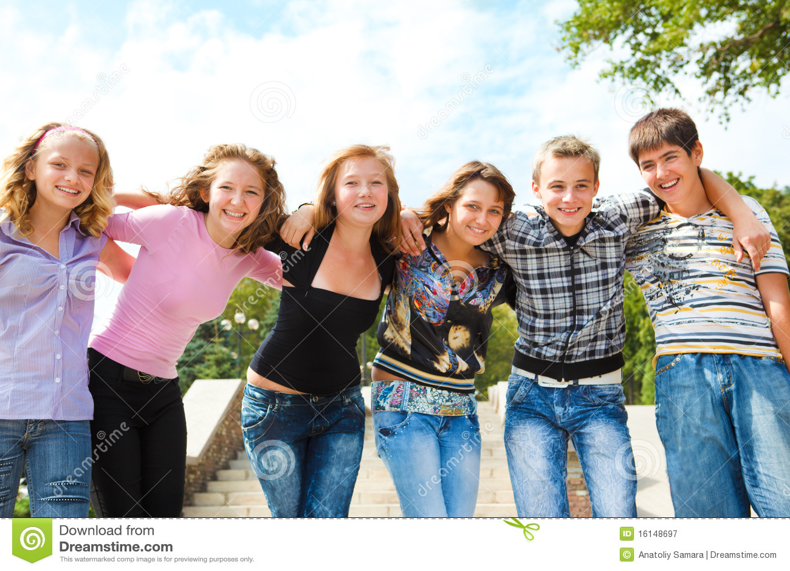 Groupe d adolescent