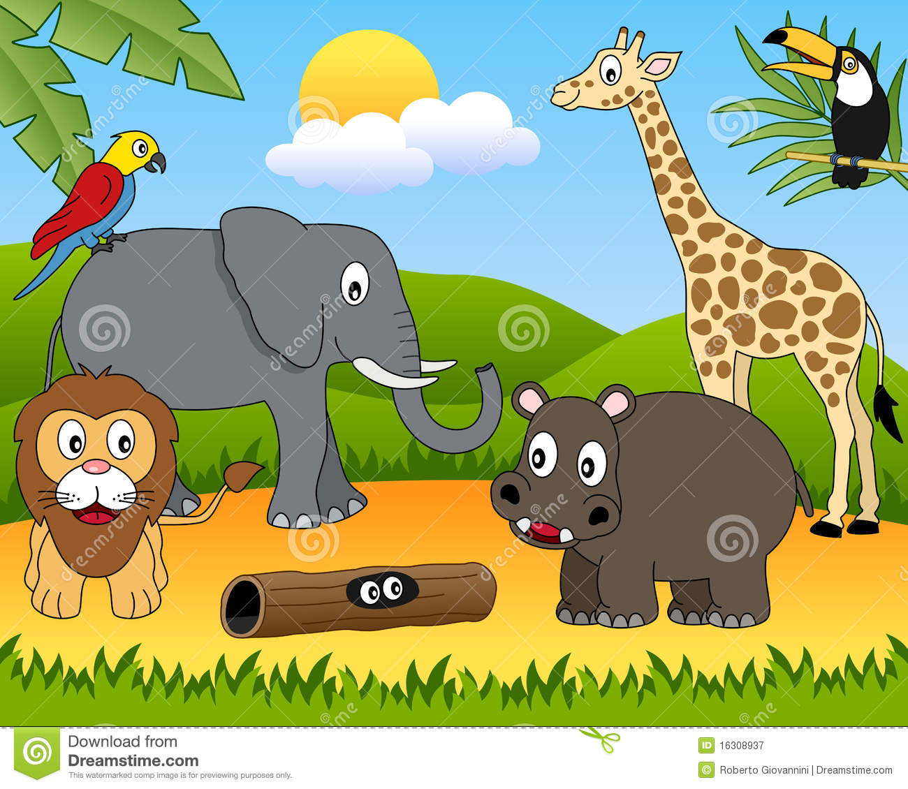 Groupe d animaux africain [1]