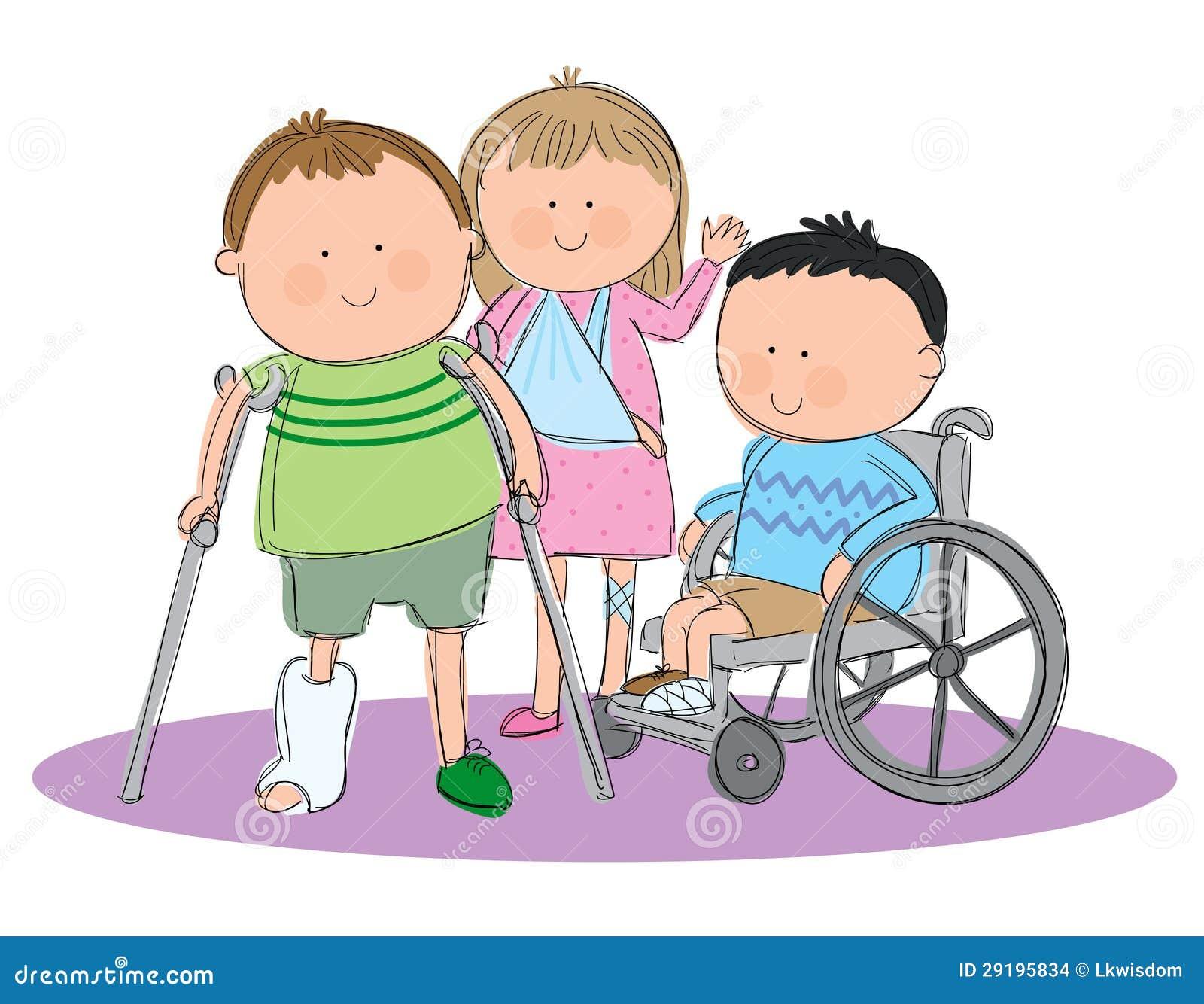 Groupe d 39 enfants malades images stock image 29195834 - Dessin groupe d enfants ...
