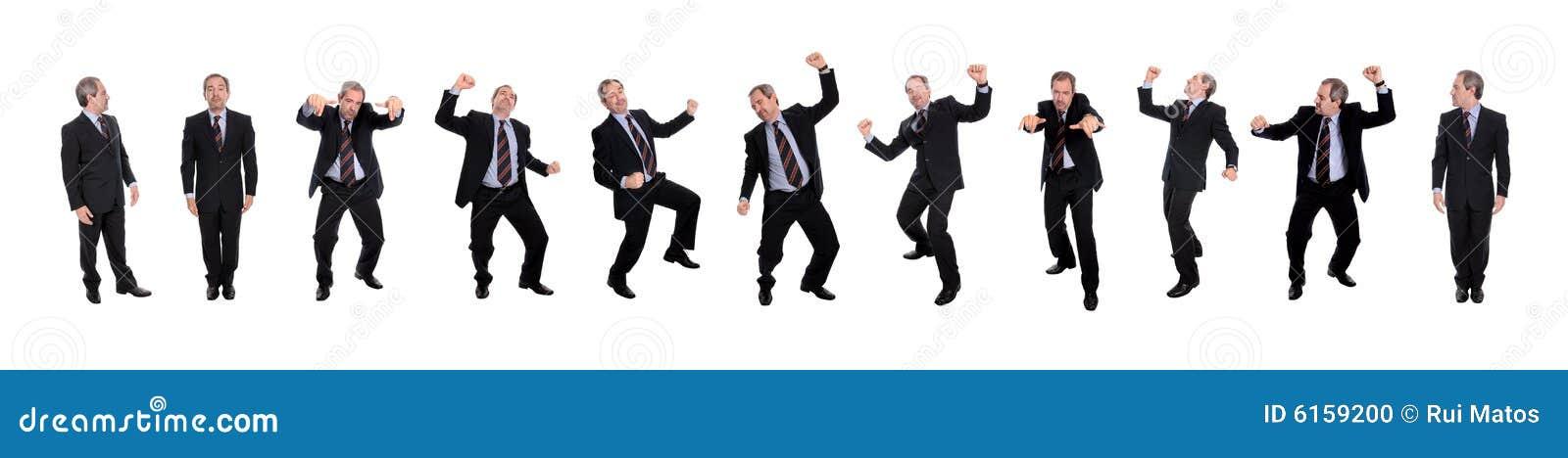 Groupe d hommes heureux d affaires