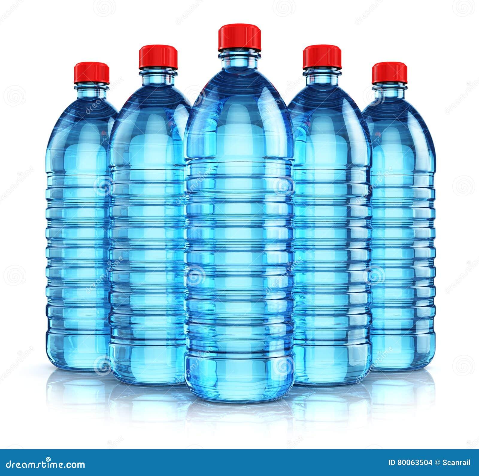 groupe de bouteilles d 39 eau en plastique bleues de boissons illustration stock image 80063504. Black Bedroom Furniture Sets. Home Design Ideas