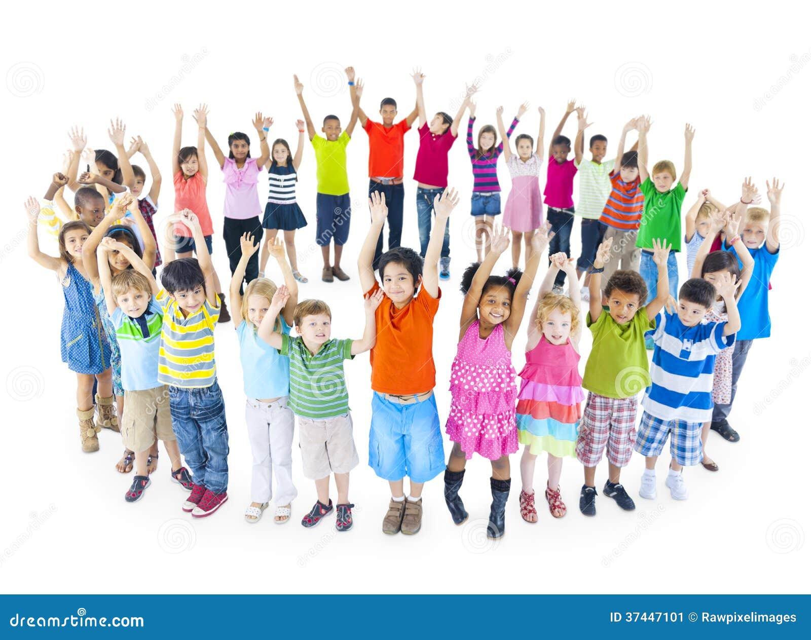 Super Groupe De Célébration D'enfants Du Monde Image stock - Image: 37447101 TX23
