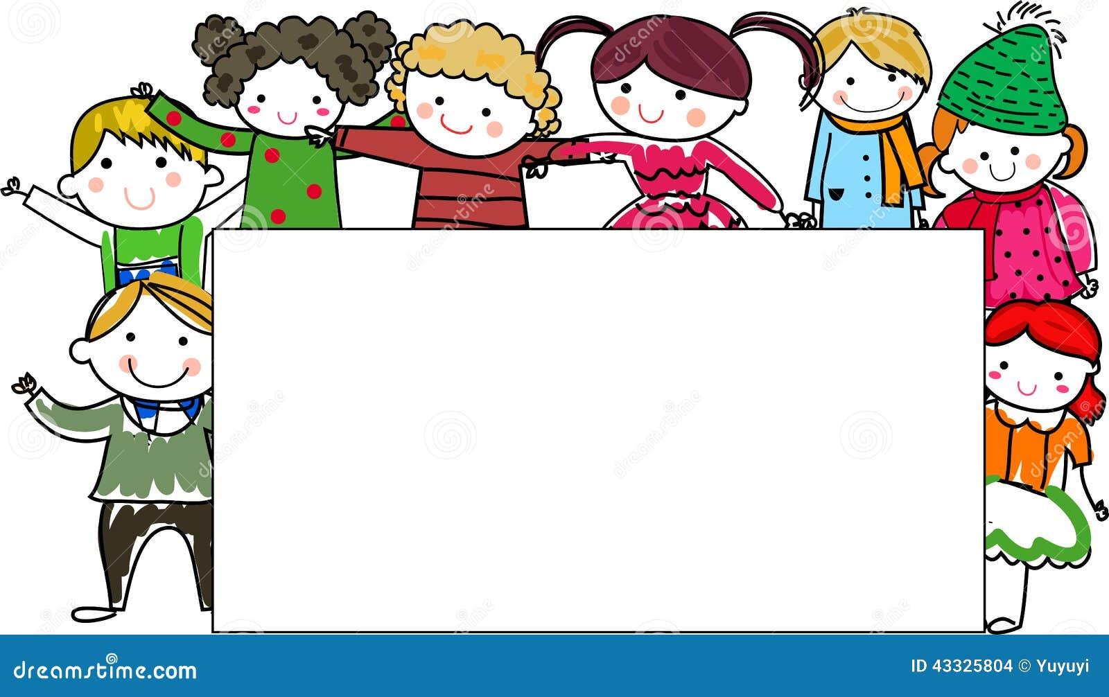 Groupe de cadre d enfants