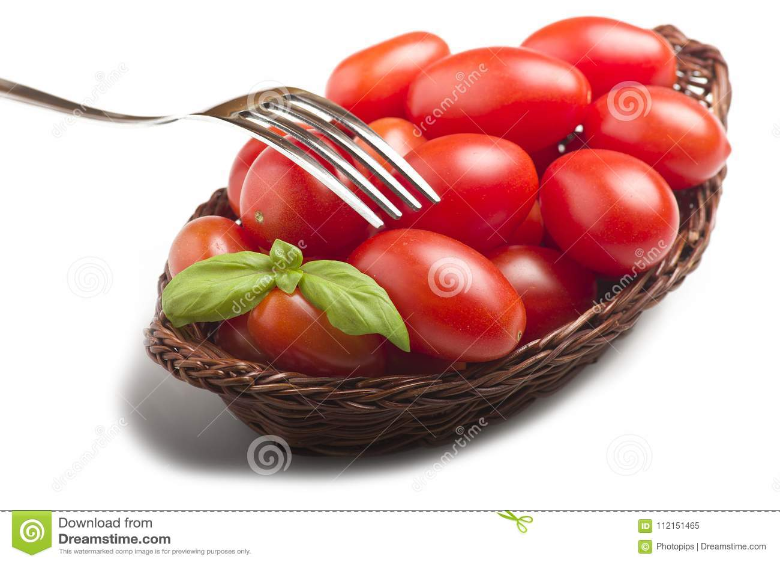 groupe de feuilles de tomate et de basilic image stock. Black Bedroom Furniture Sets. Home Design Ideas
