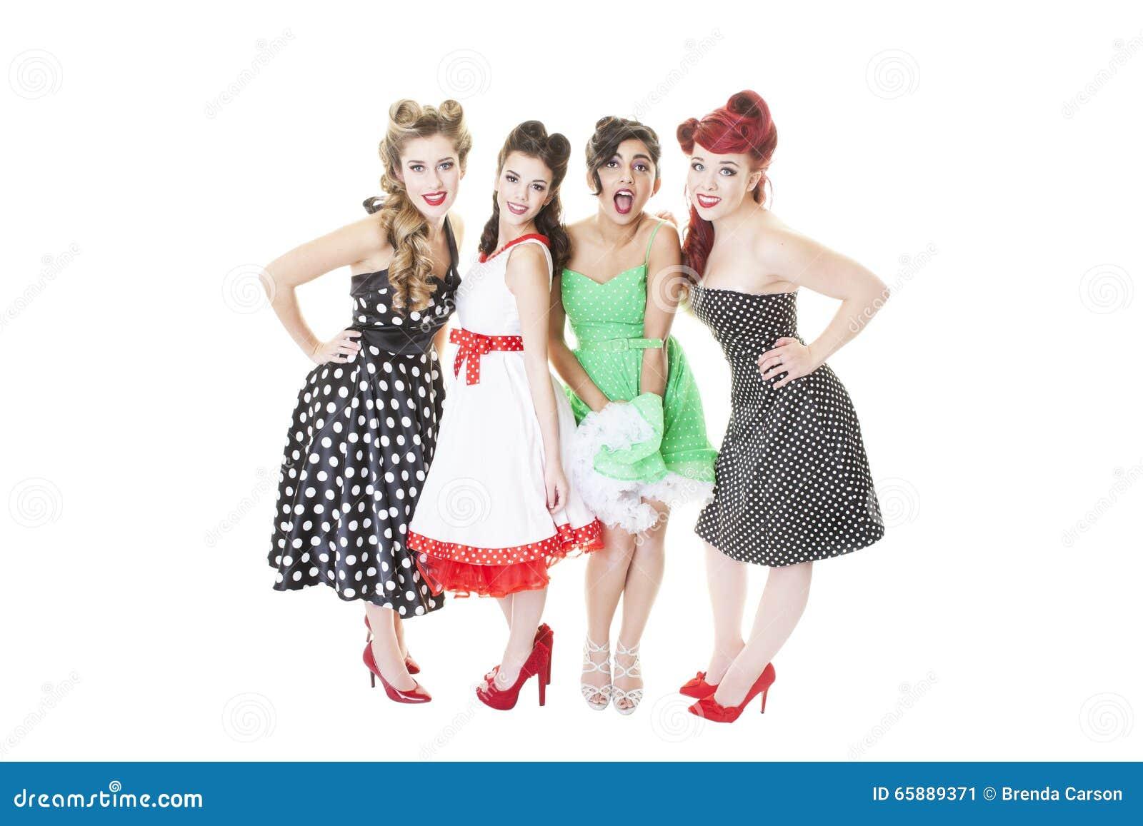 Groupes de fille blanche