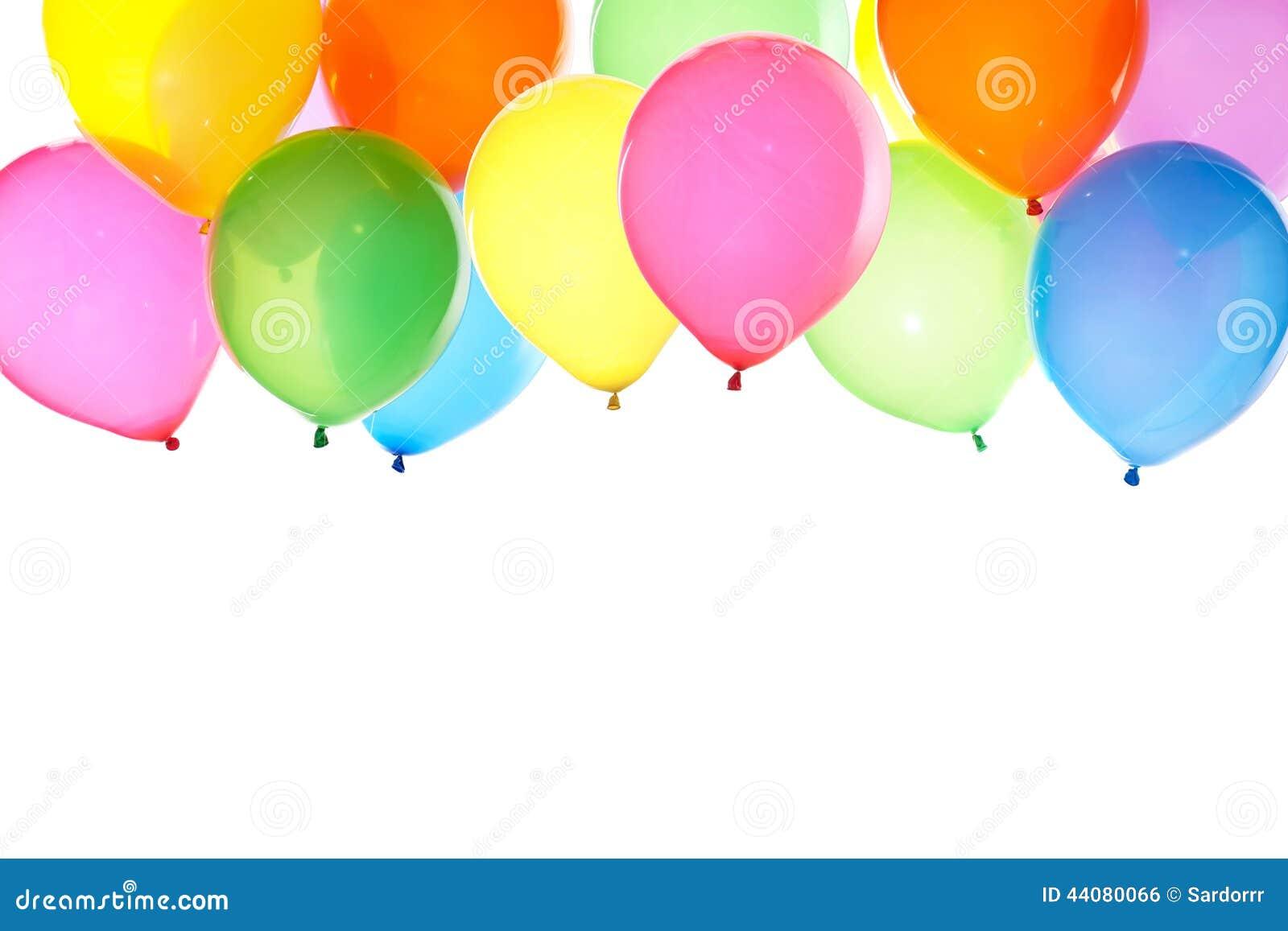 Groupe de fond coloré de ballons