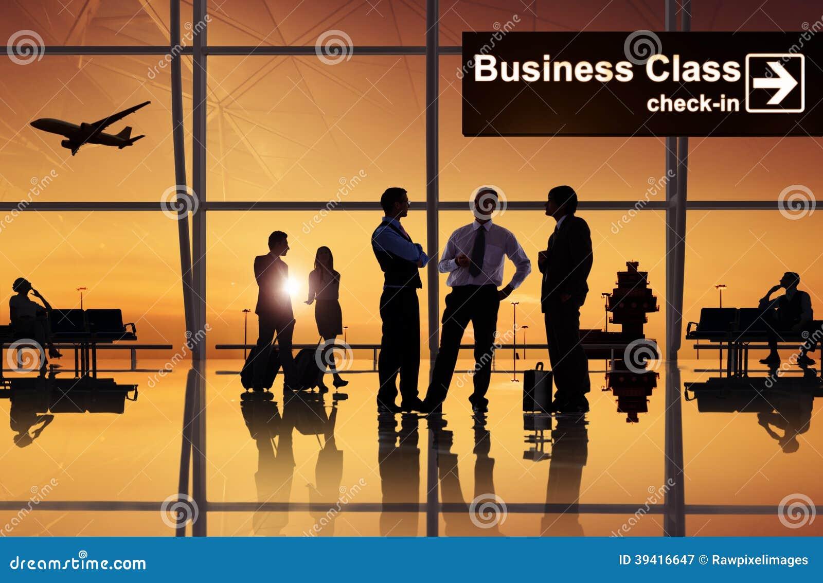 Groupe de gens d affaires dans l aéroport
