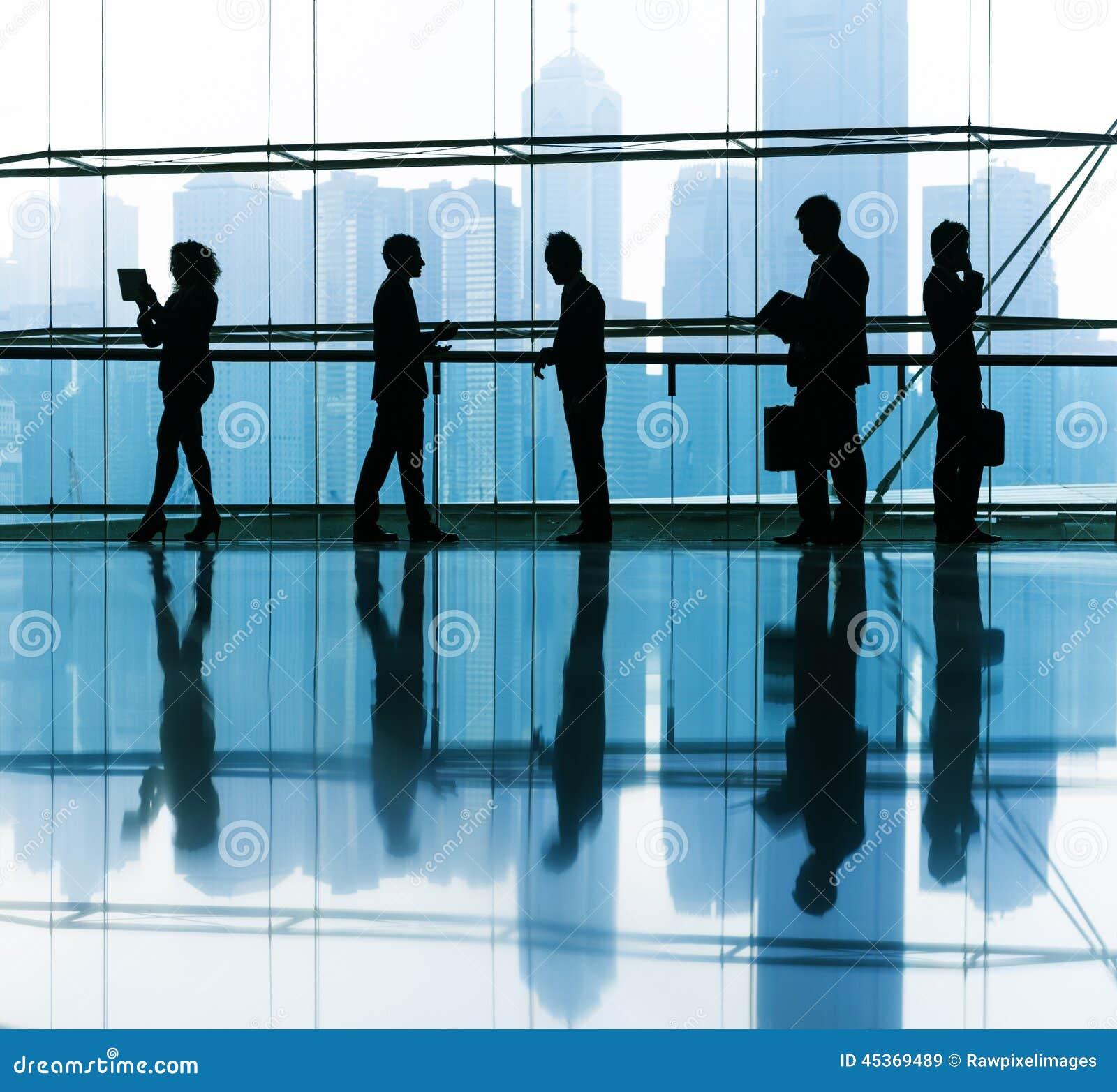 Groupe de gens d affaires le bureau