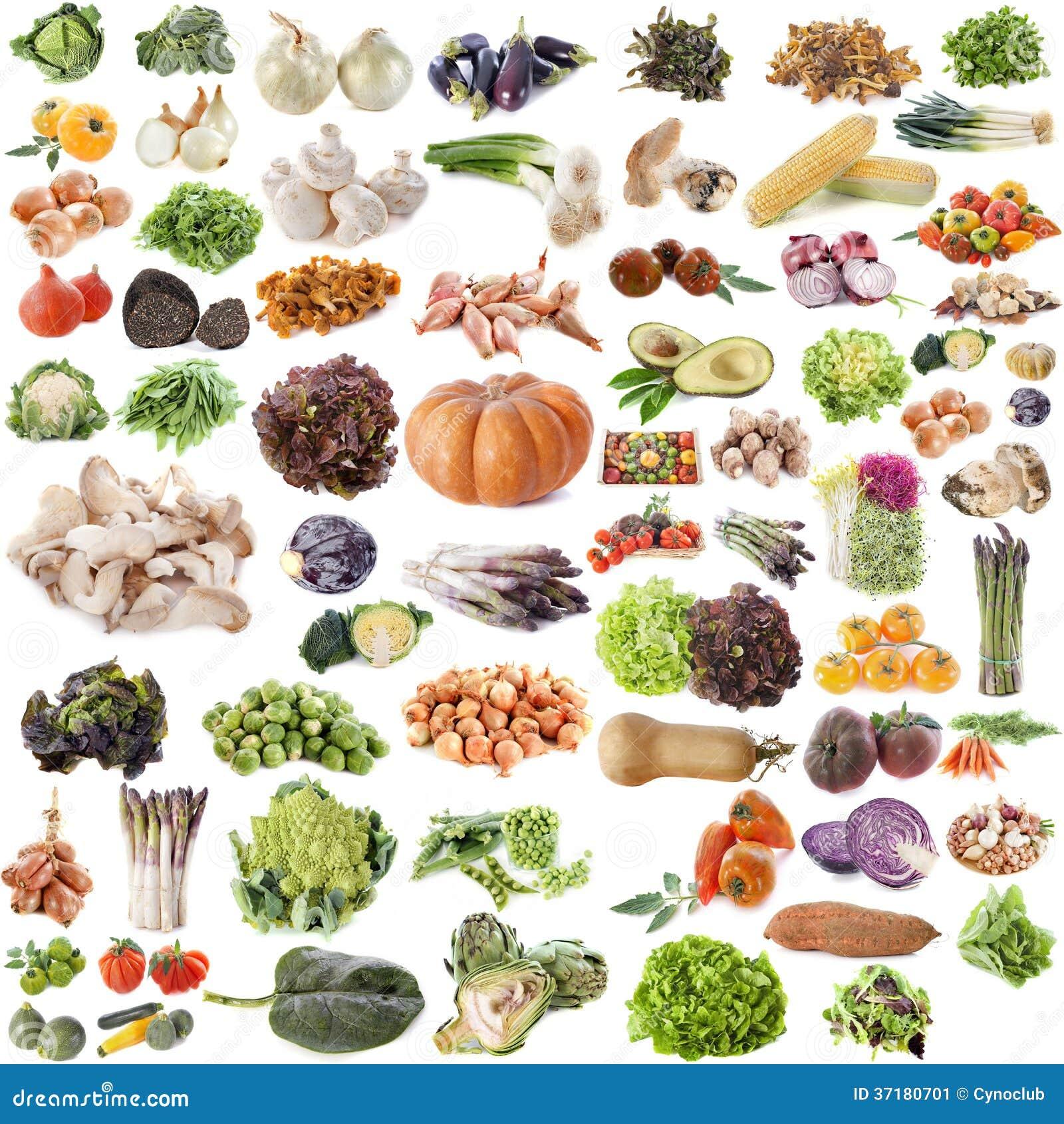 Groupe de fruits et légumes