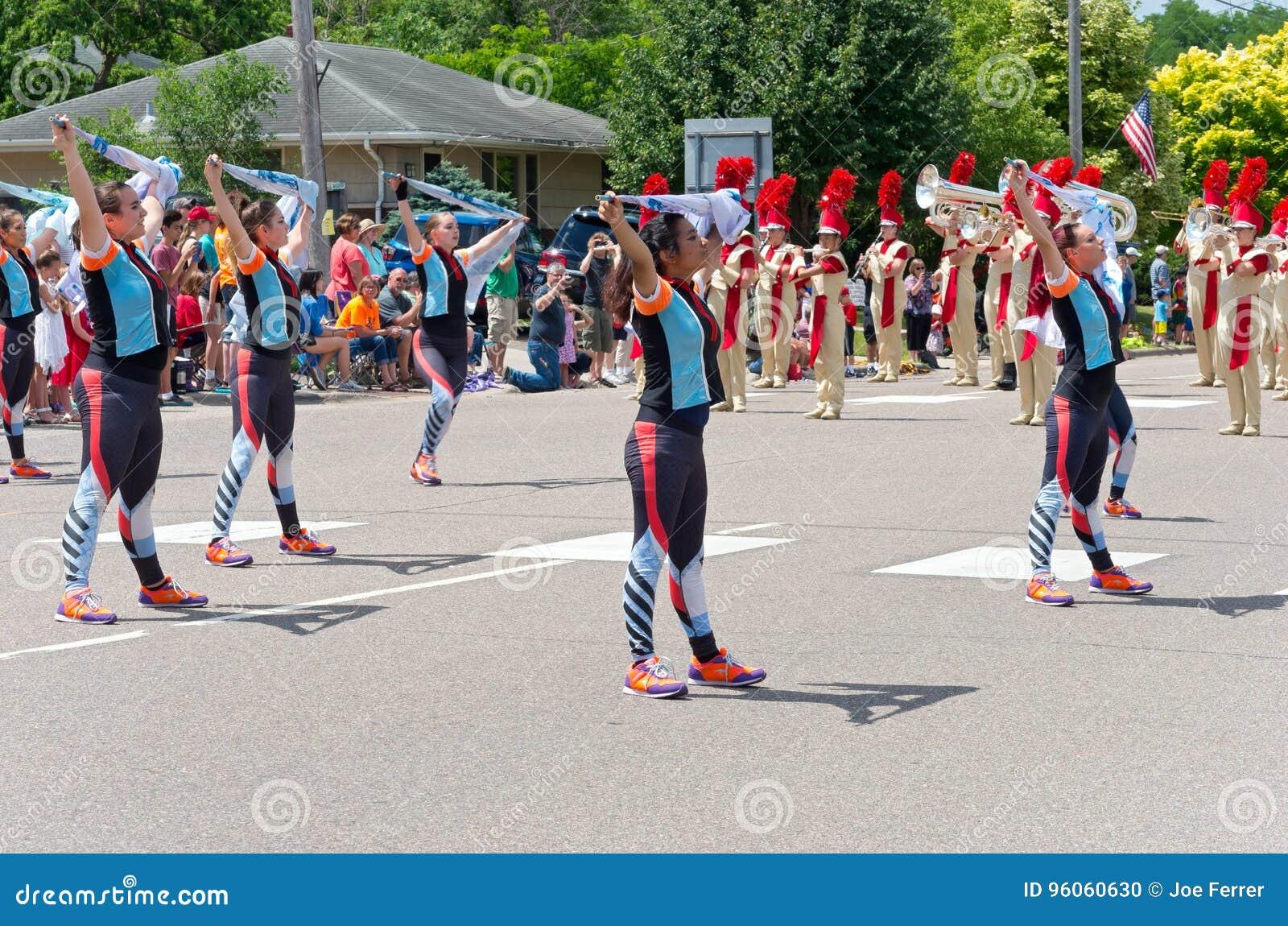 Groupe de musique du lycée de Sibley au défilé