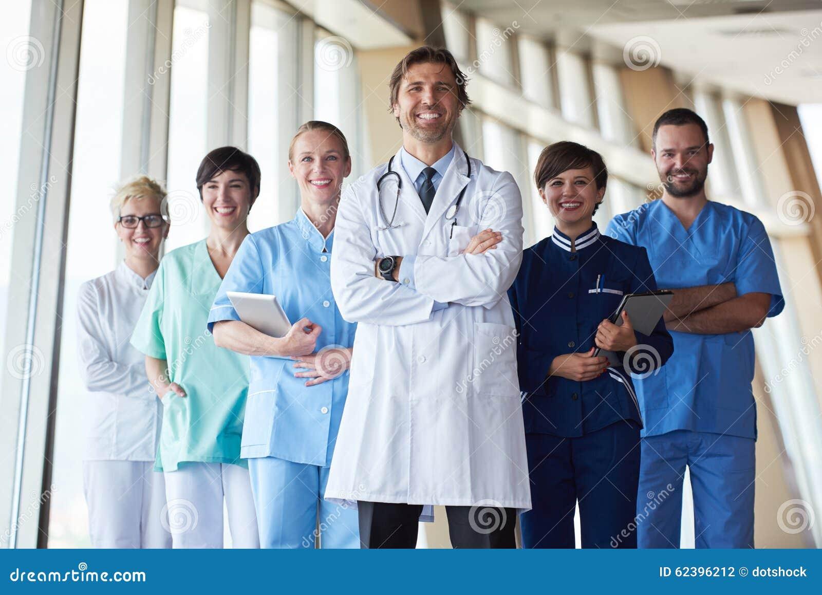 Groupe de personnel médical à l hôpital