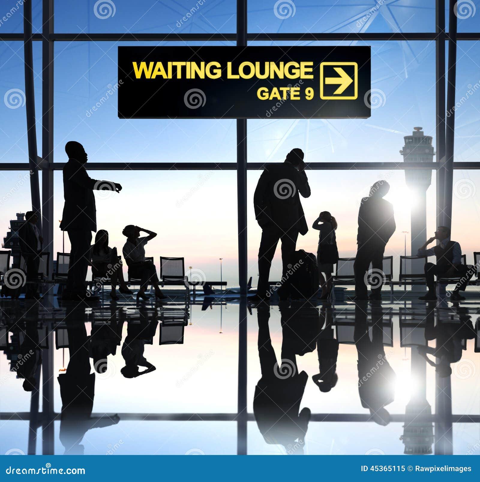 Groupe de personnes dans l aéroport