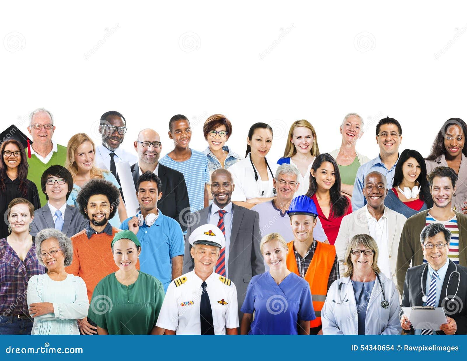 Groupe de personnes divers le concept professionnel de profession