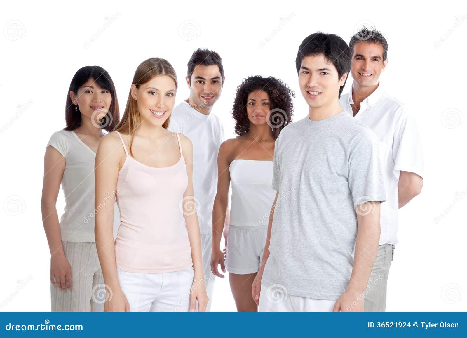 Groupe de personnes multi-ethnique