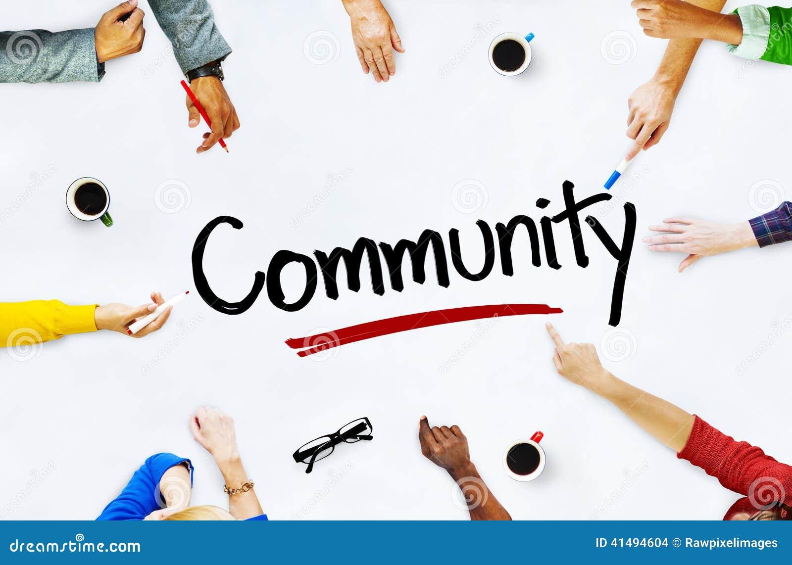 Groupe de personnes multi-ethnique concepts et de la Communauté