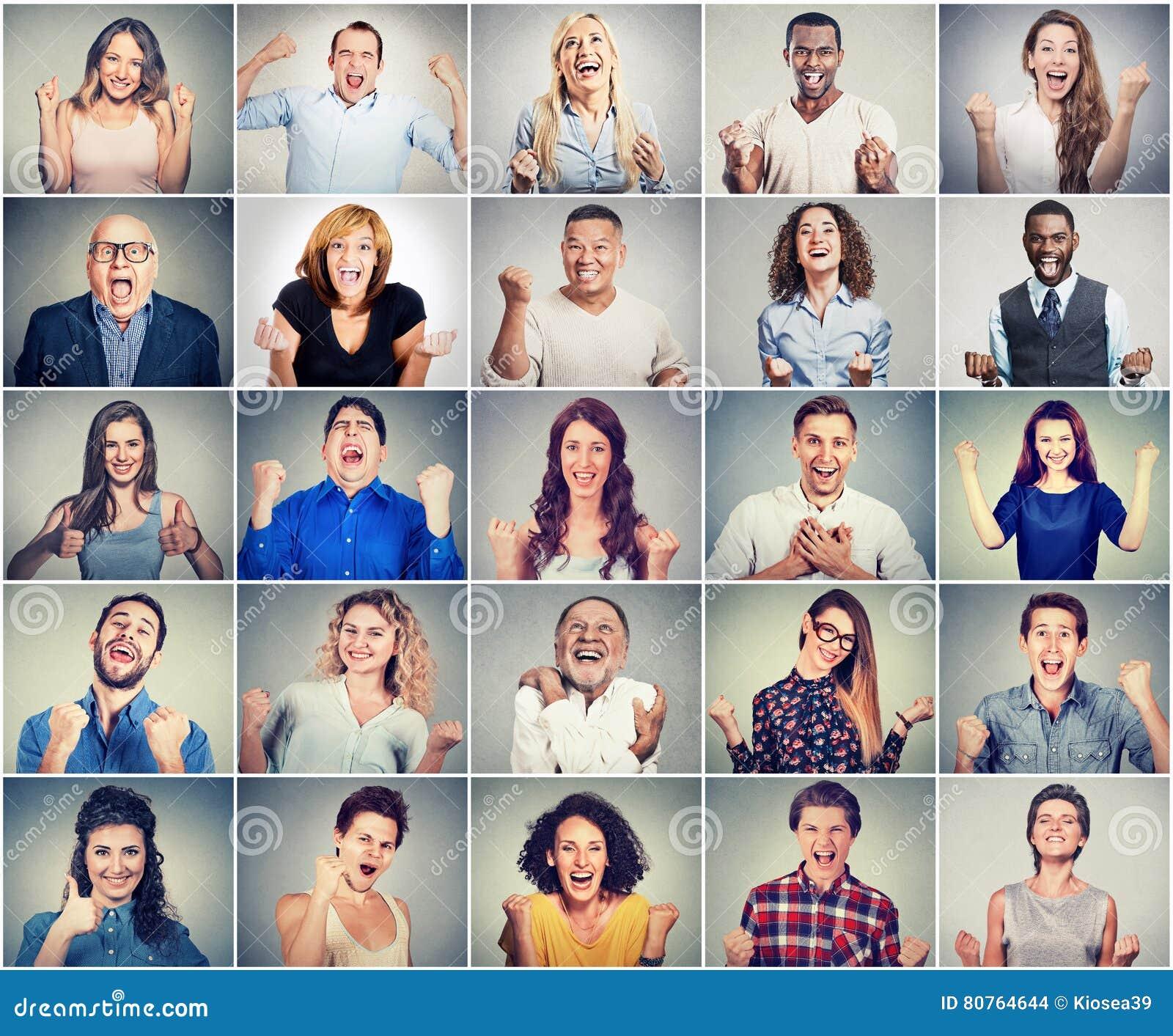 Groupe de personnes radieuses réussies multiculturelles