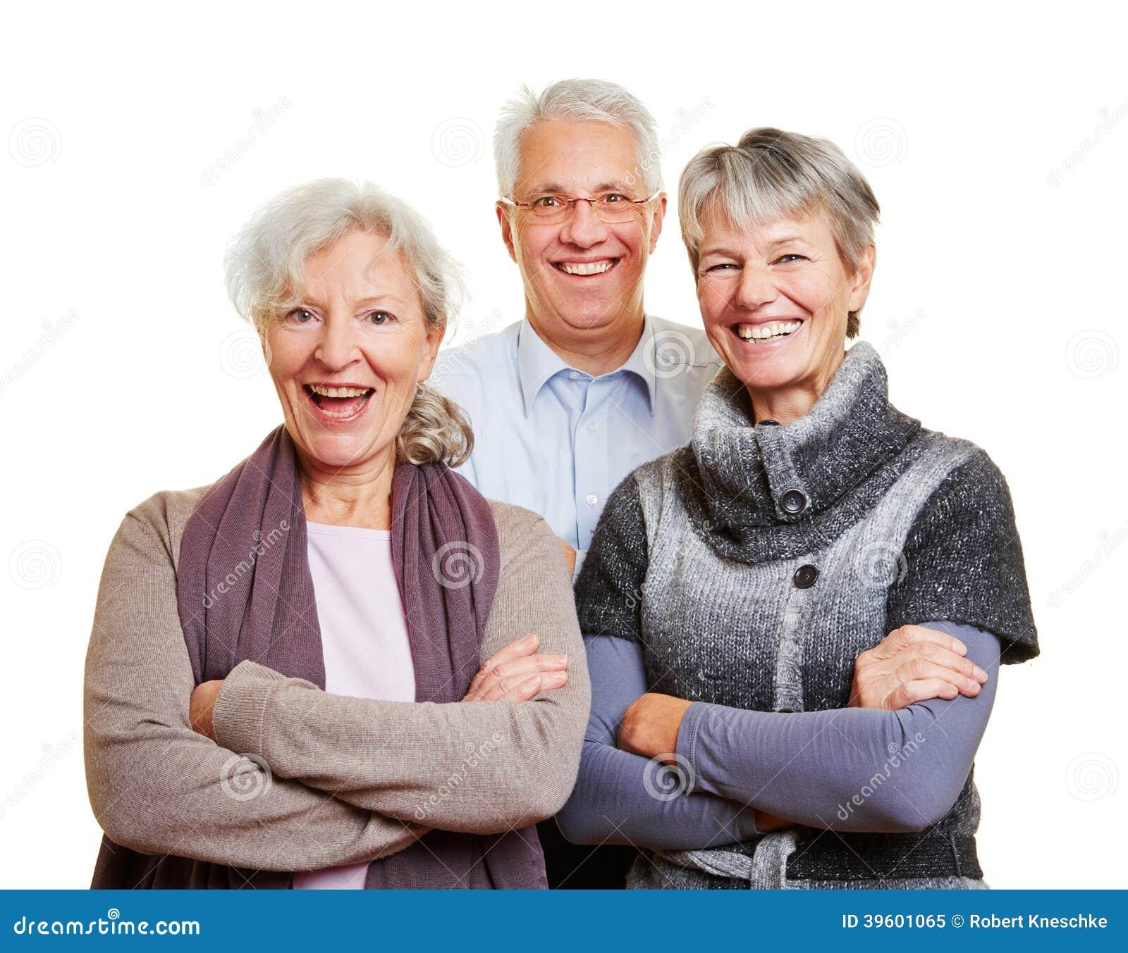 Groupe de personnes supérieures heureuses