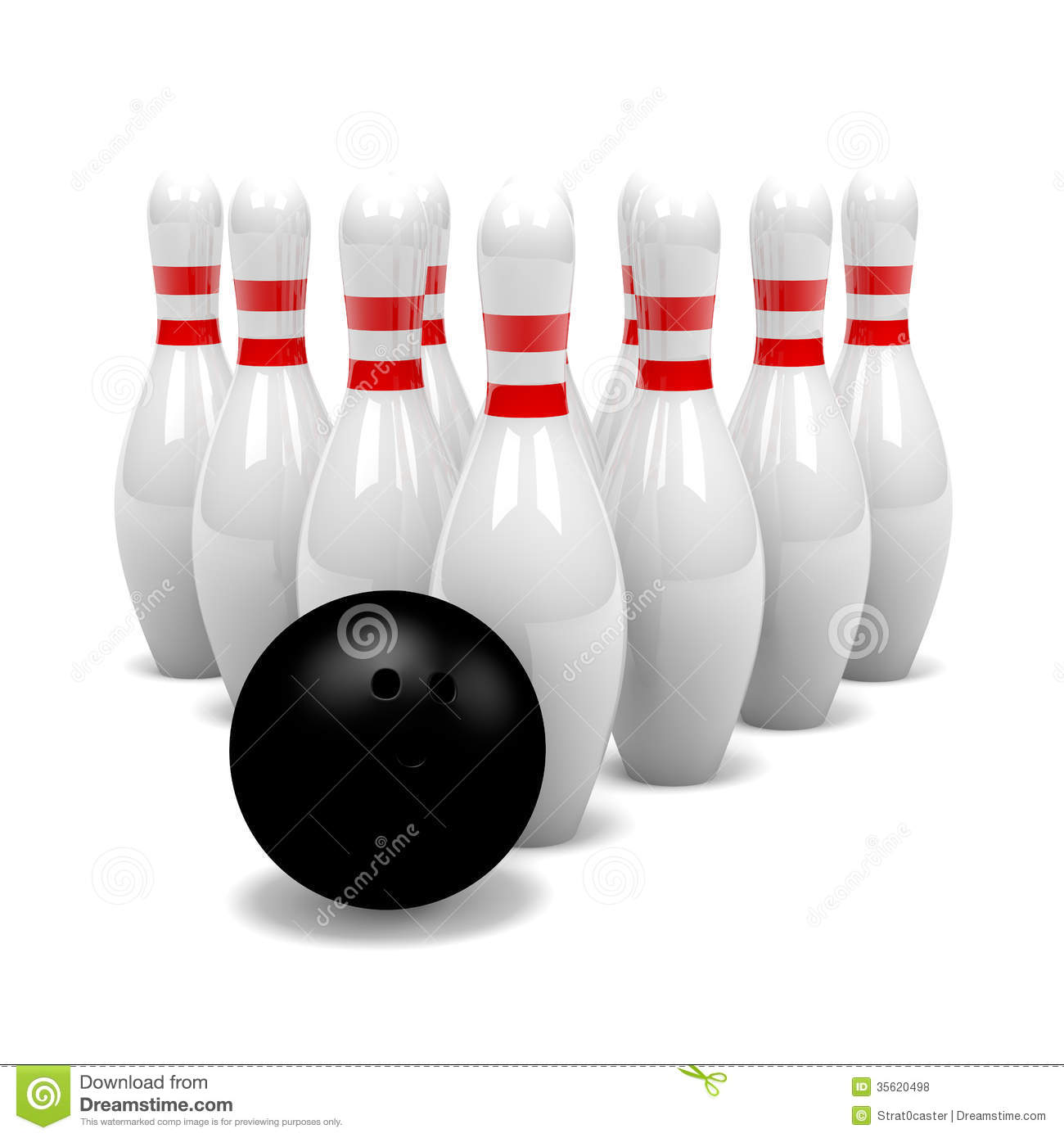 groupe de quilles avec la boule de bowling photos libres de droits image 35620498. Black Bedroom Furniture Sets. Home Design Ideas