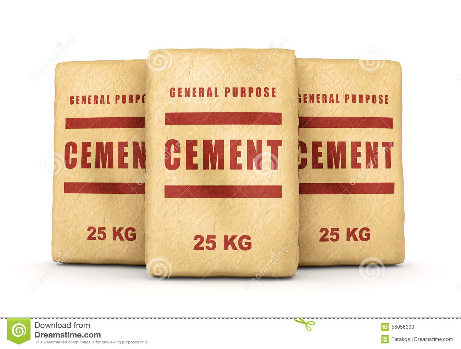 groupe de sacs de ciment illustration stock image 56056393. Black Bedroom Furniture Sets. Home Design Ideas