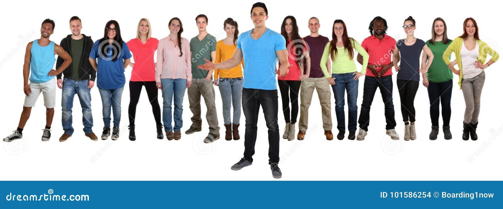 Groupe de standi de invitation bienvenu d invitation d amies des jeunes
