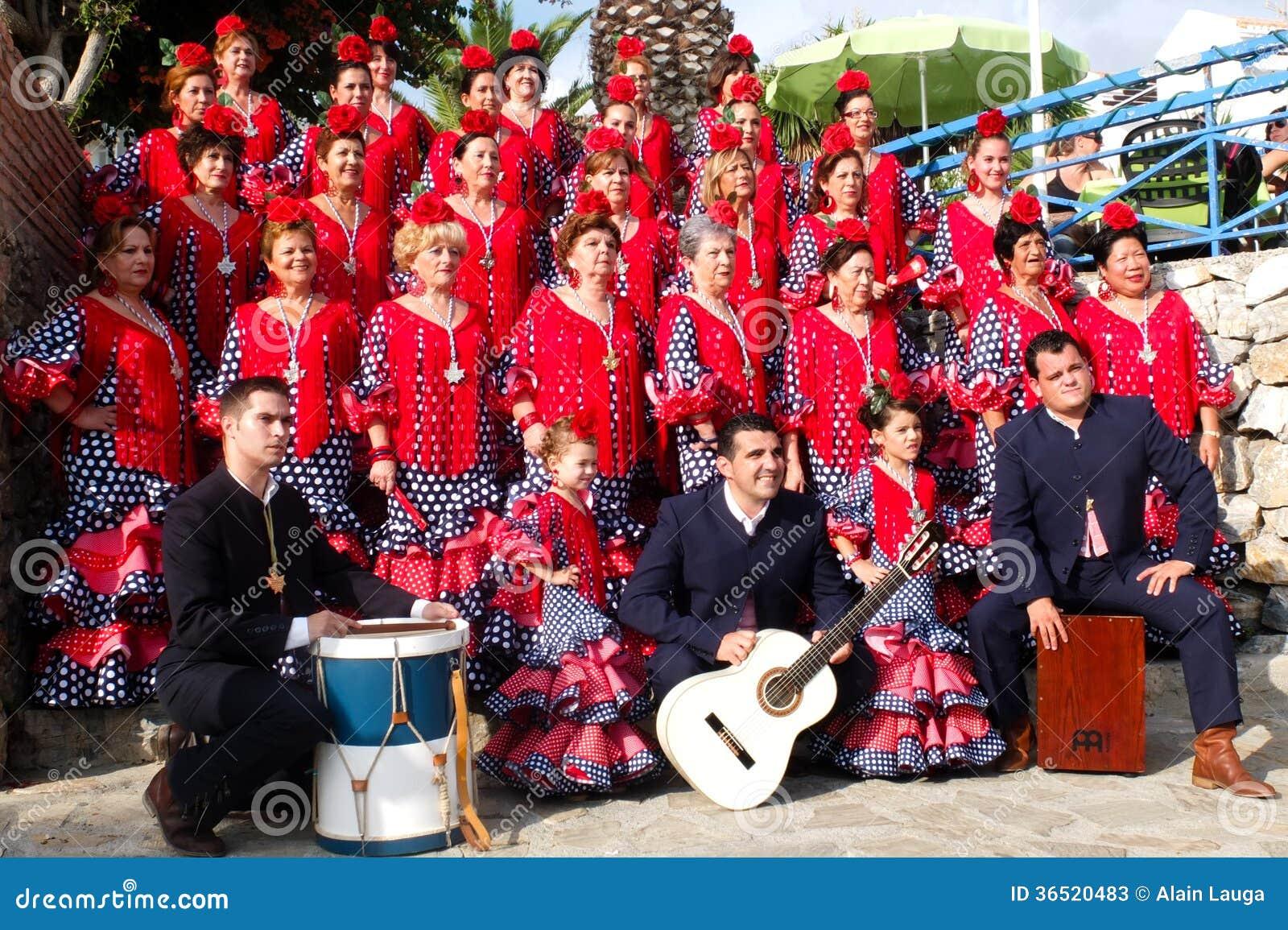 Groupe folklorique andalou.