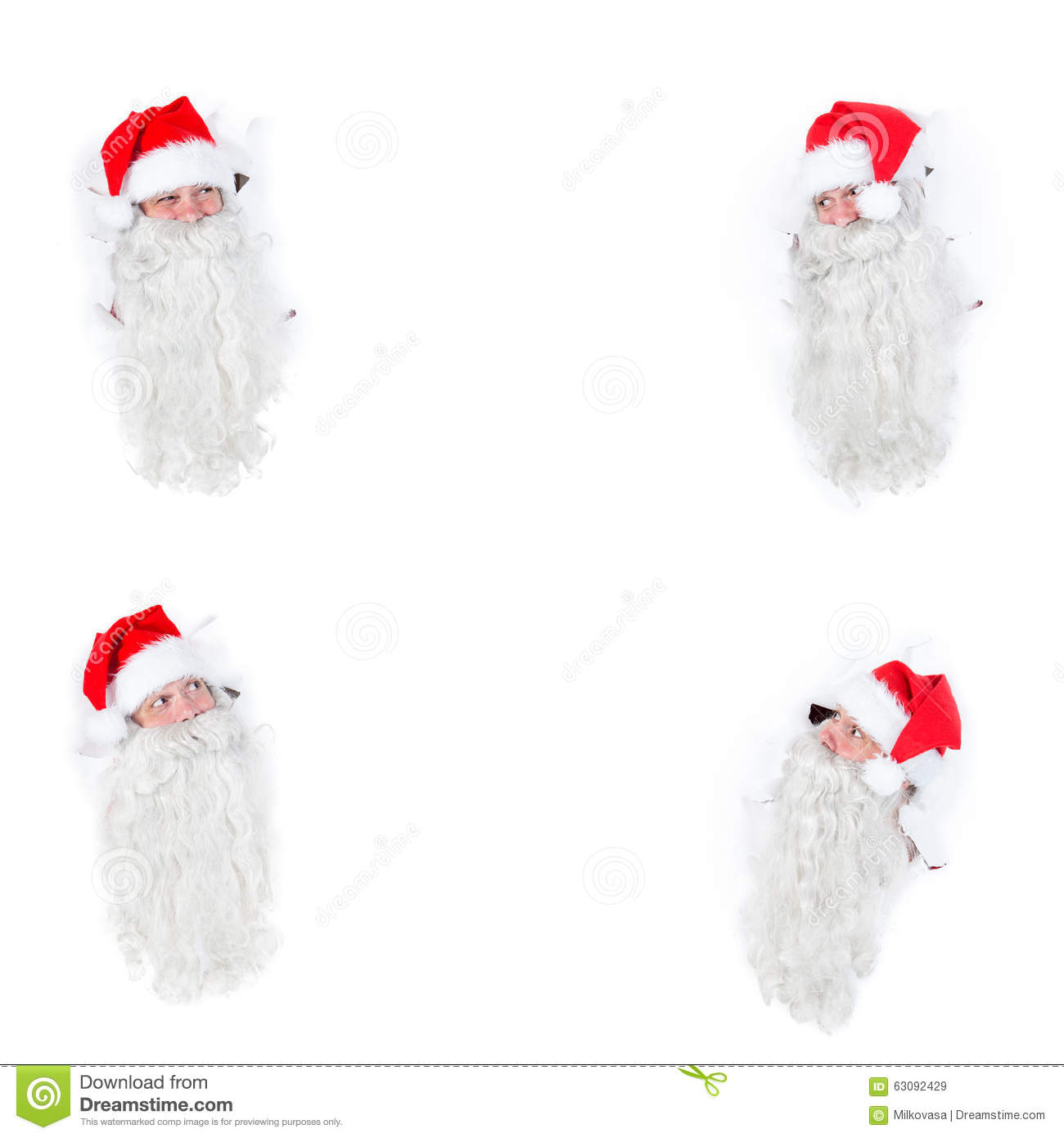 Download Groupe Santa Claus image stock. Image du claus, barbe - 63092429