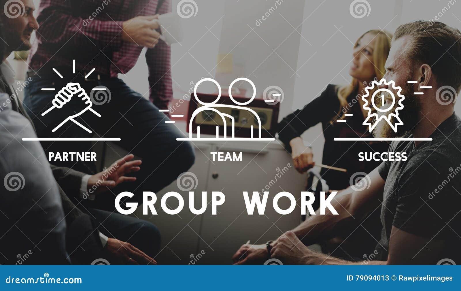 Groupe Team Work Organization Concept