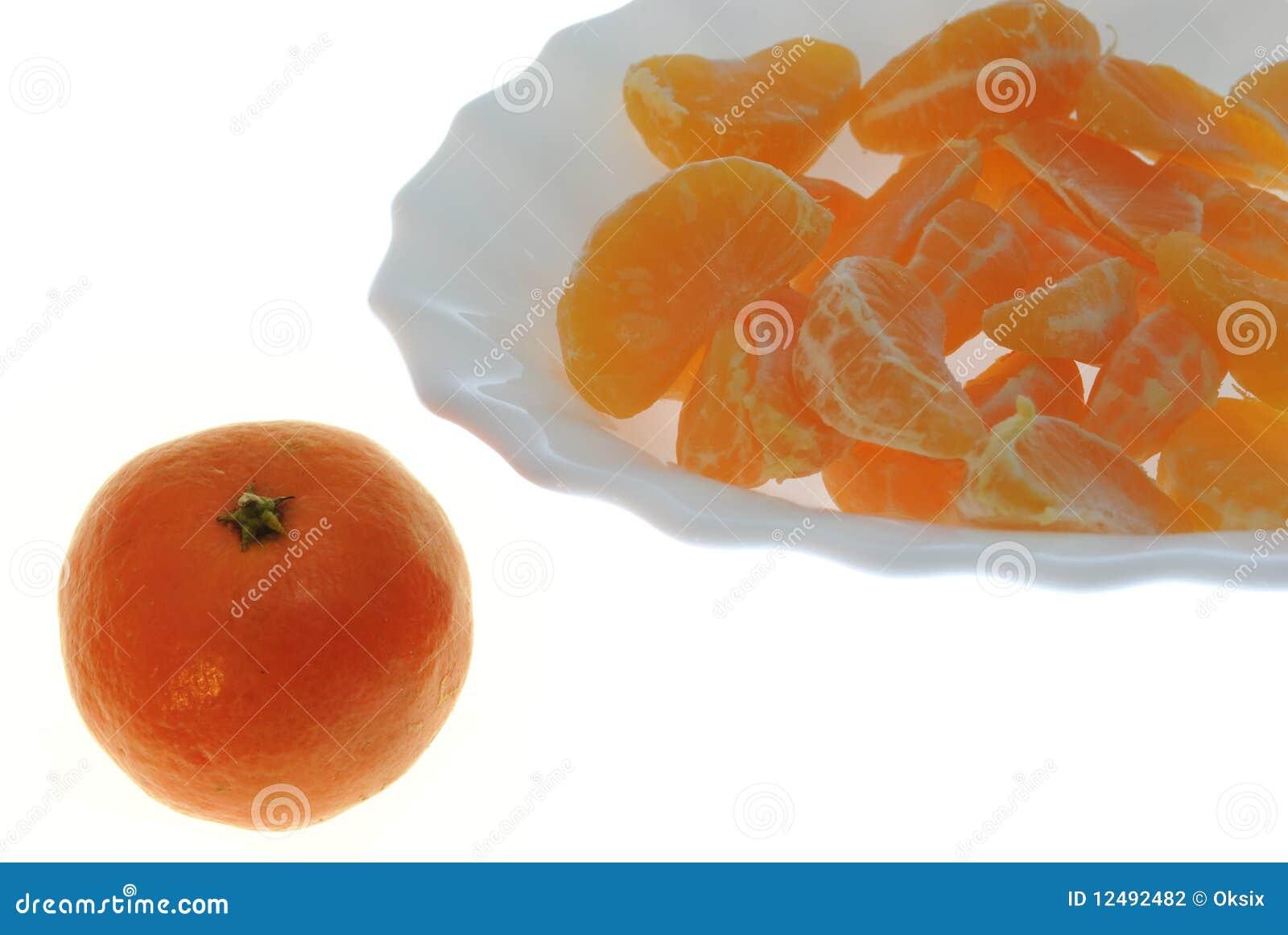 Groups Of Segments A Tangerine