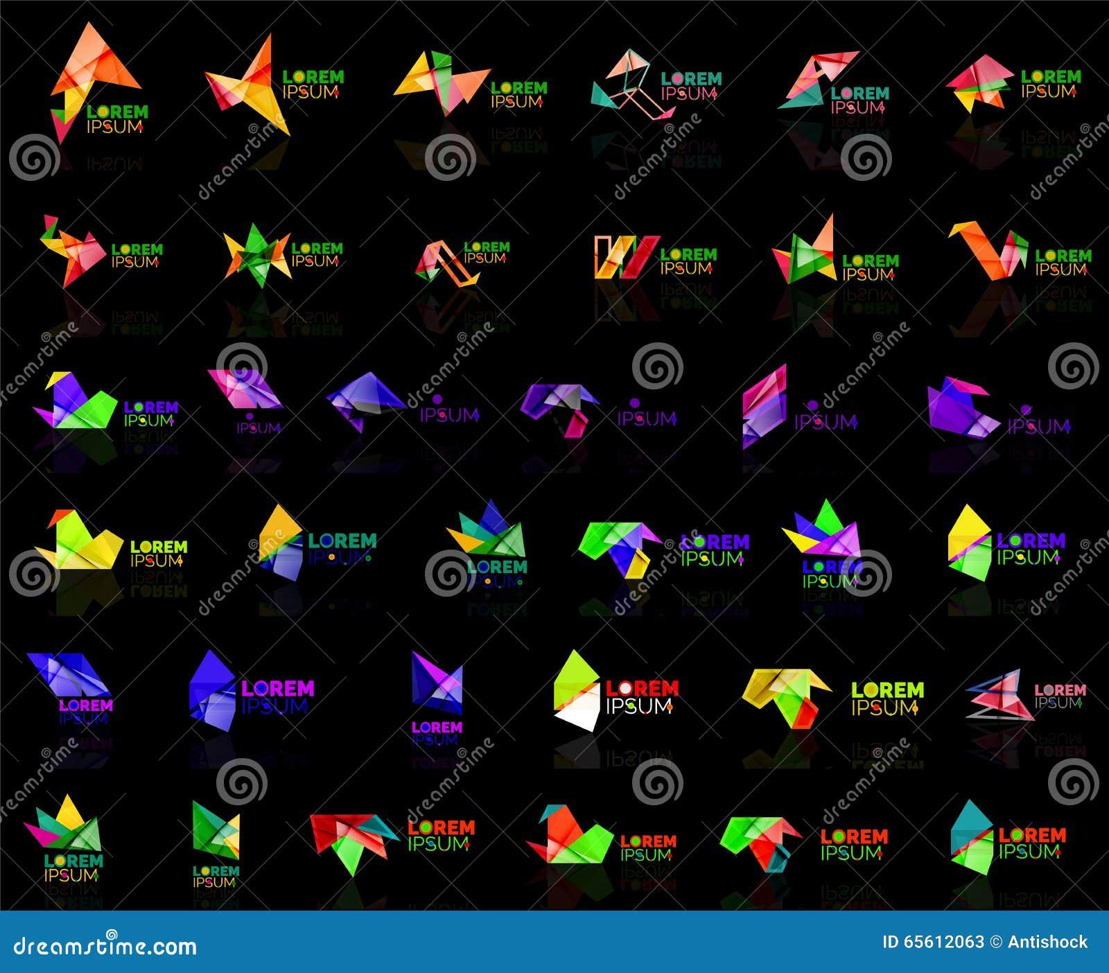 Grow Up Arrow Origami Abstract Vector Logo Design Template Paper