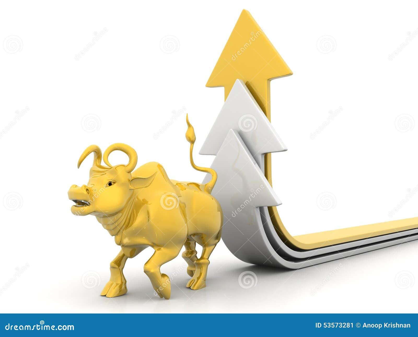 Growing Arrow With Bull