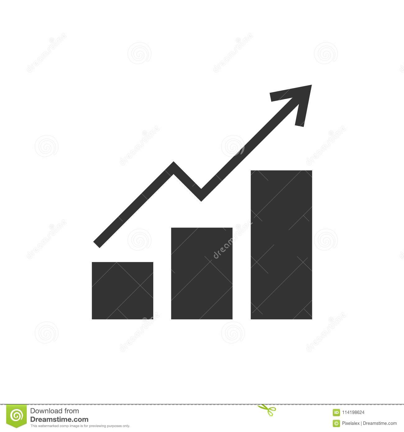 growing bar graph stock vector. illustration of graph - 114198624
