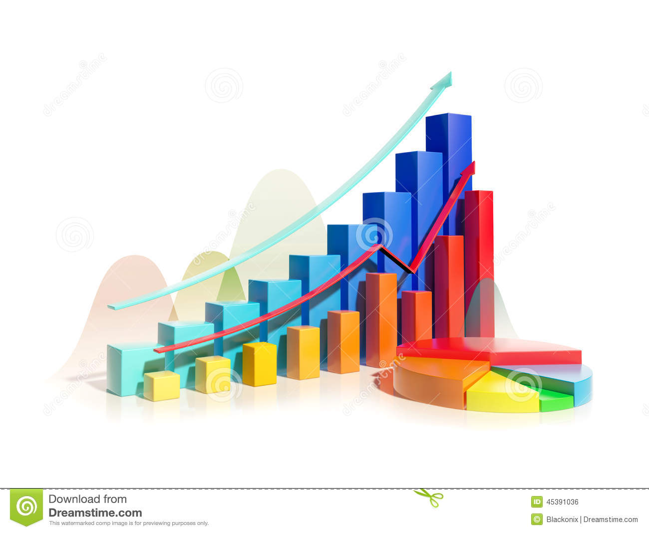 Growing bar graphs and pie chart stock illustration image 45391036 growing bar graphs and pie chart nvjuhfo Image collections