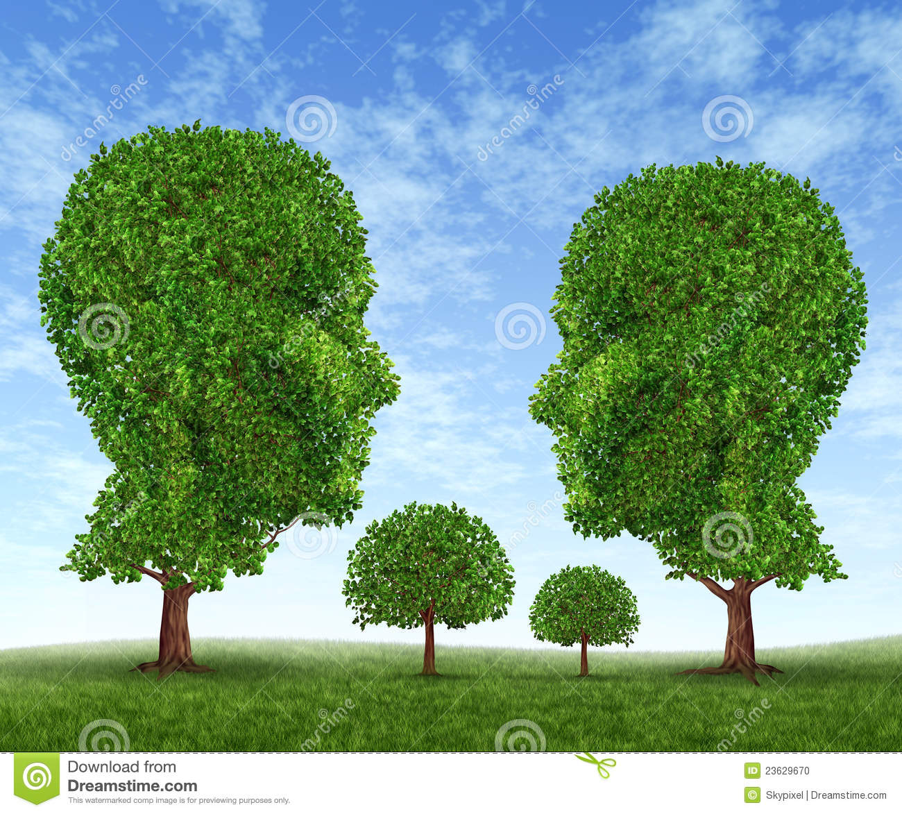 Family growing tree cartoon vector for Growing families