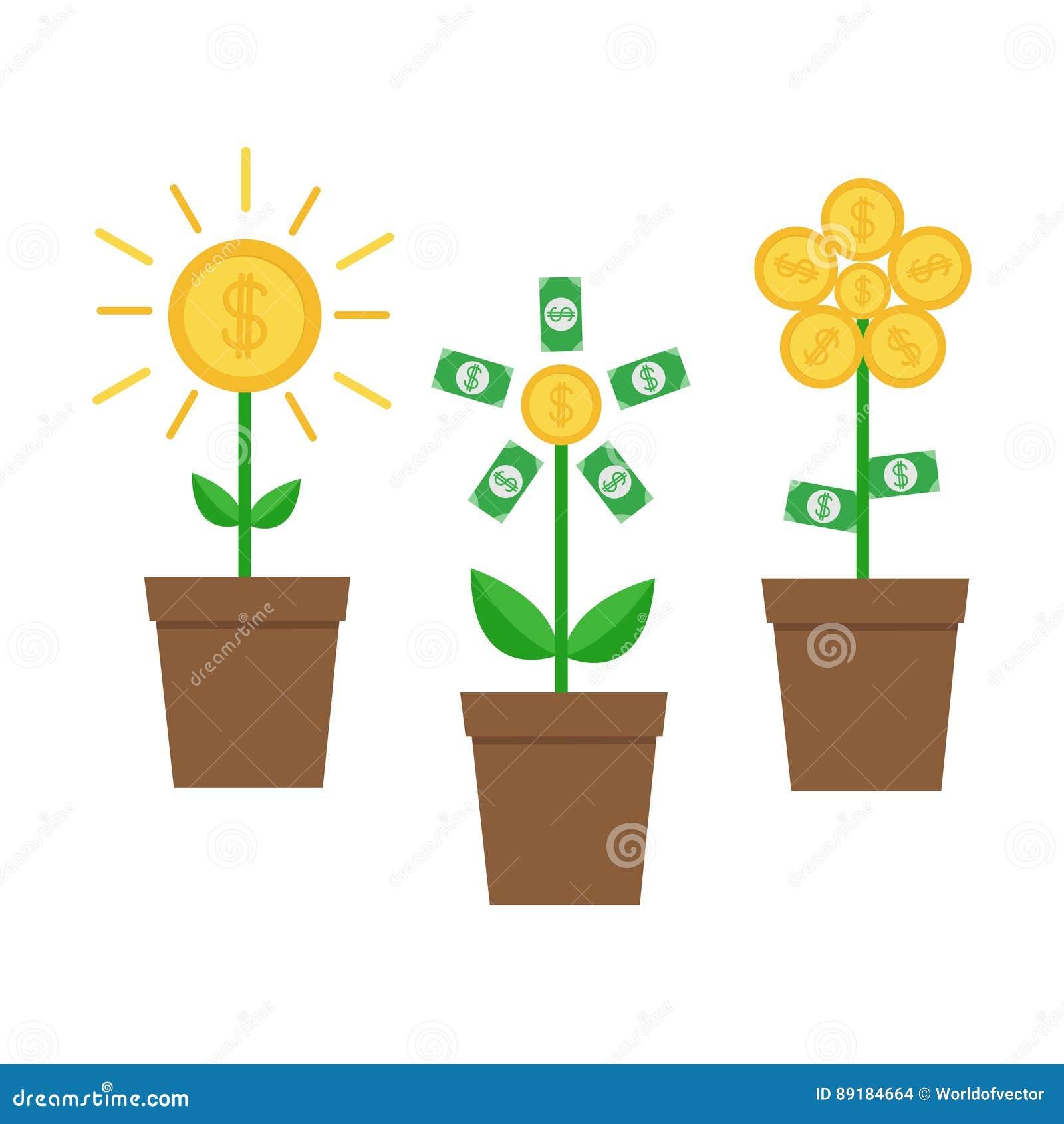 Shining Money Bag Icon Dollar Sign Flat Design Cartoon Vector 52496385