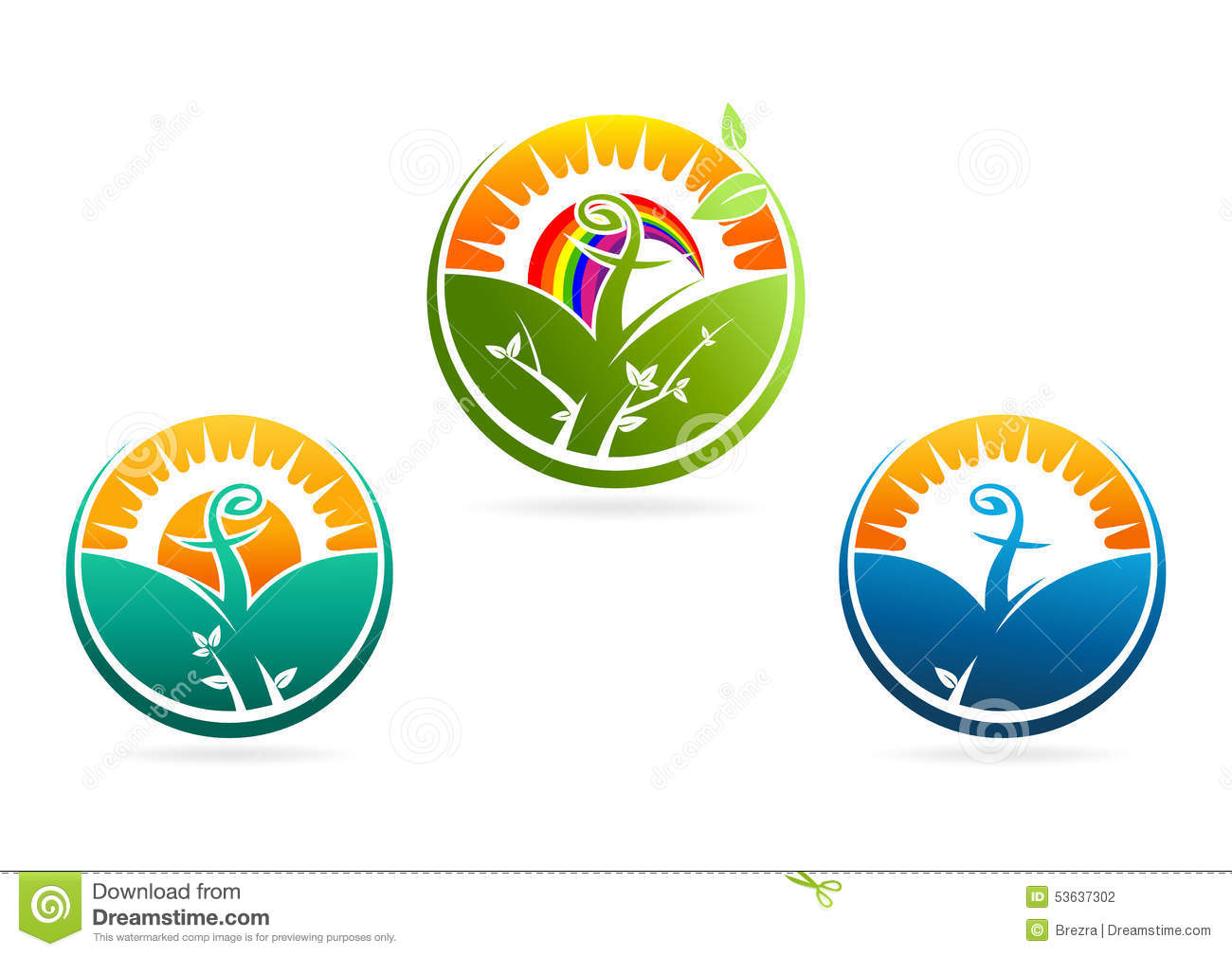 Growing Spirit Religious Logo. Nature Vector Symbol Icon Stock ...