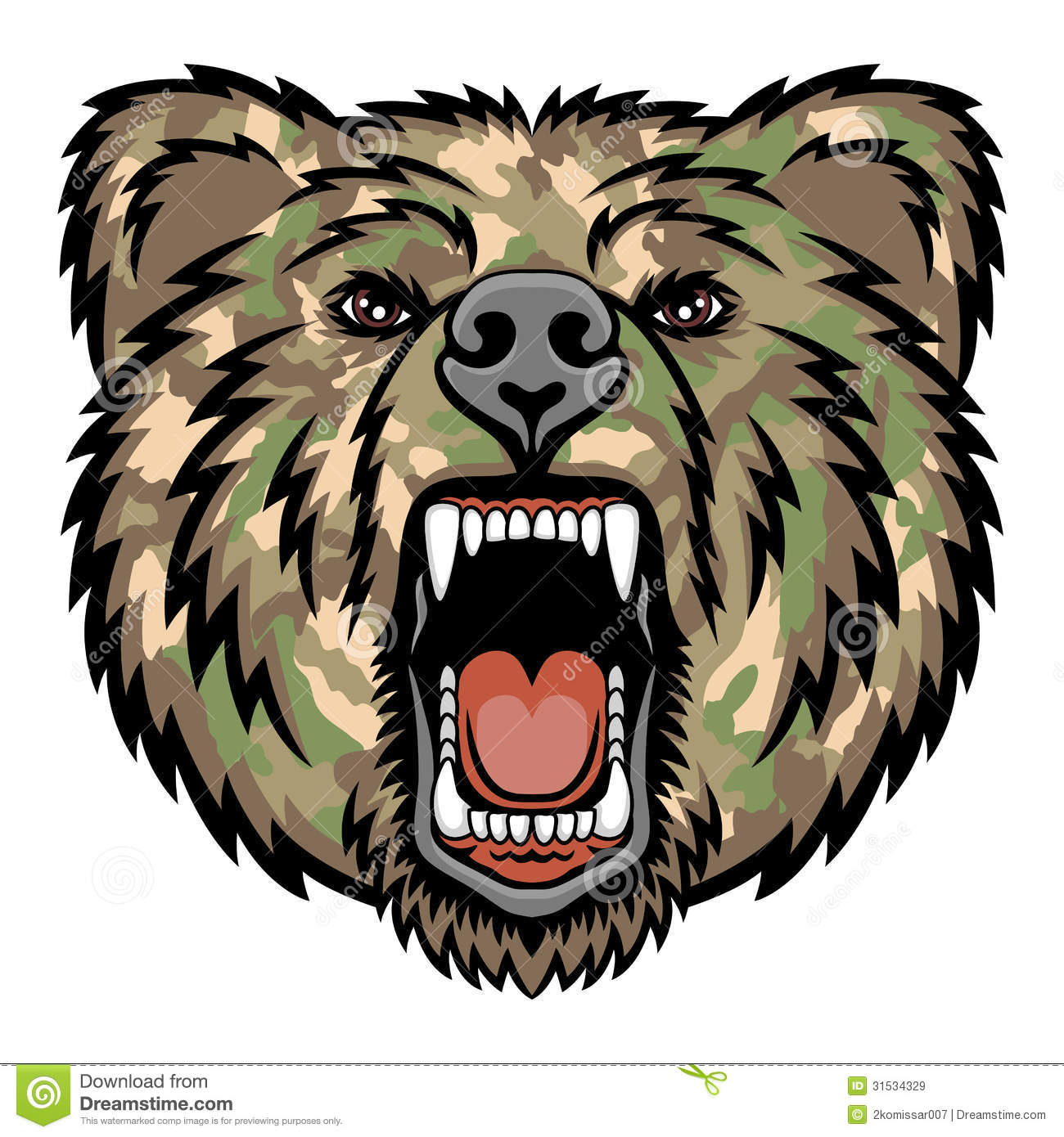 growling bear royalty free stock images image 31534329