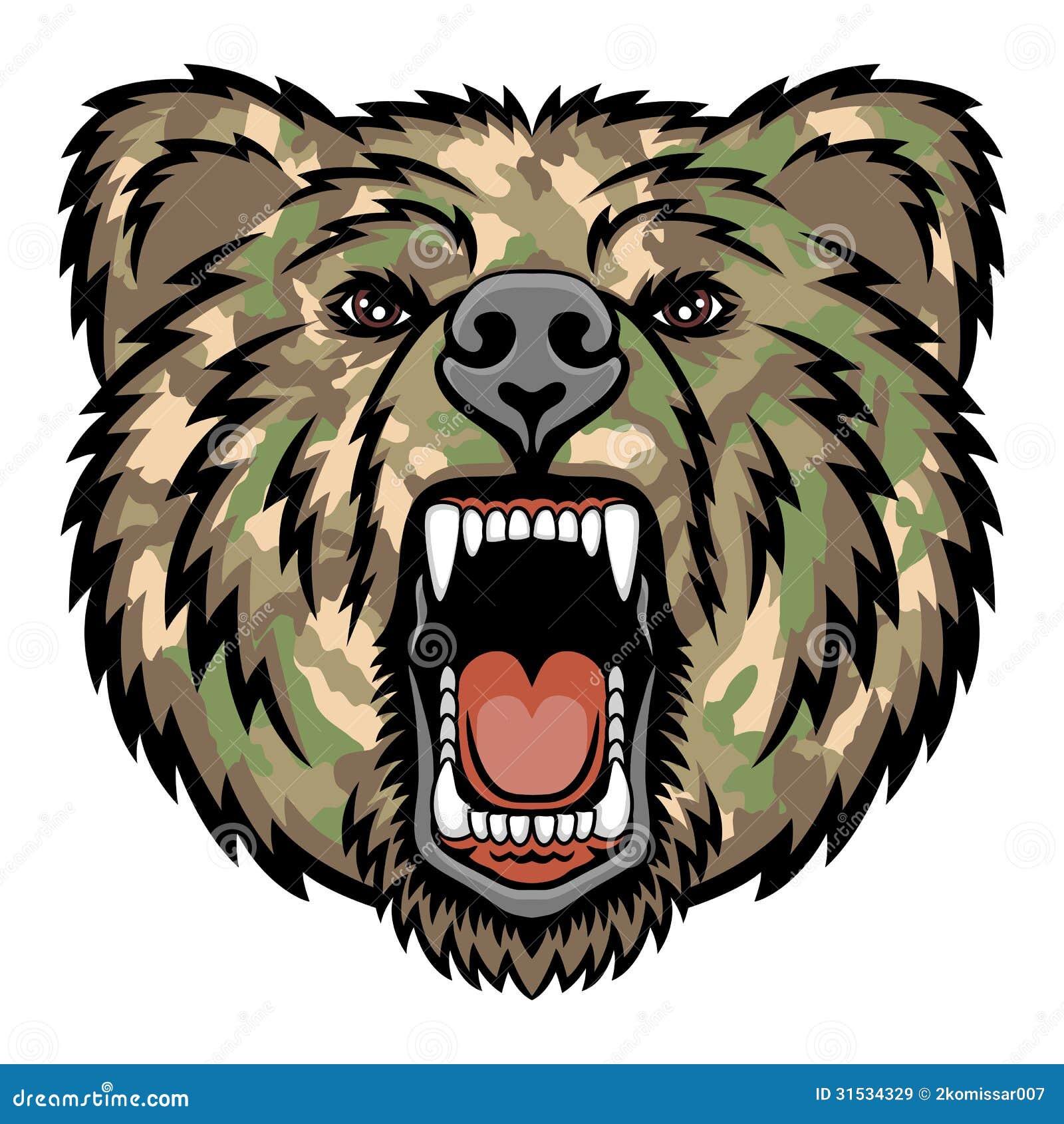 growling bear stock illustration illustration of