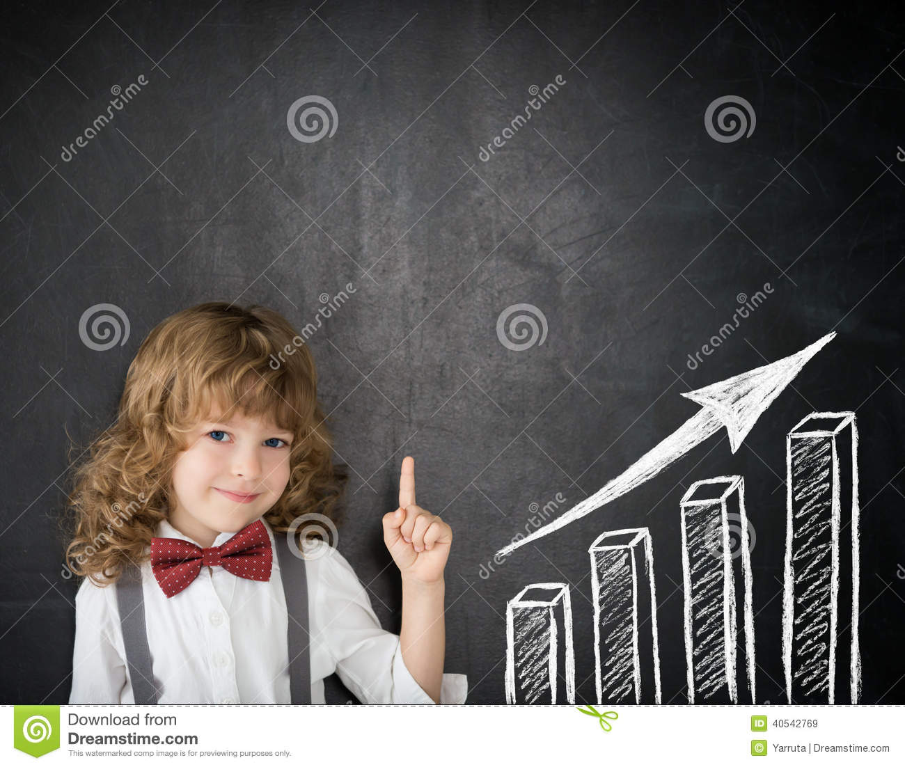 Download Growth bar graph stock image. Image of classroom, creativity - 40542769
