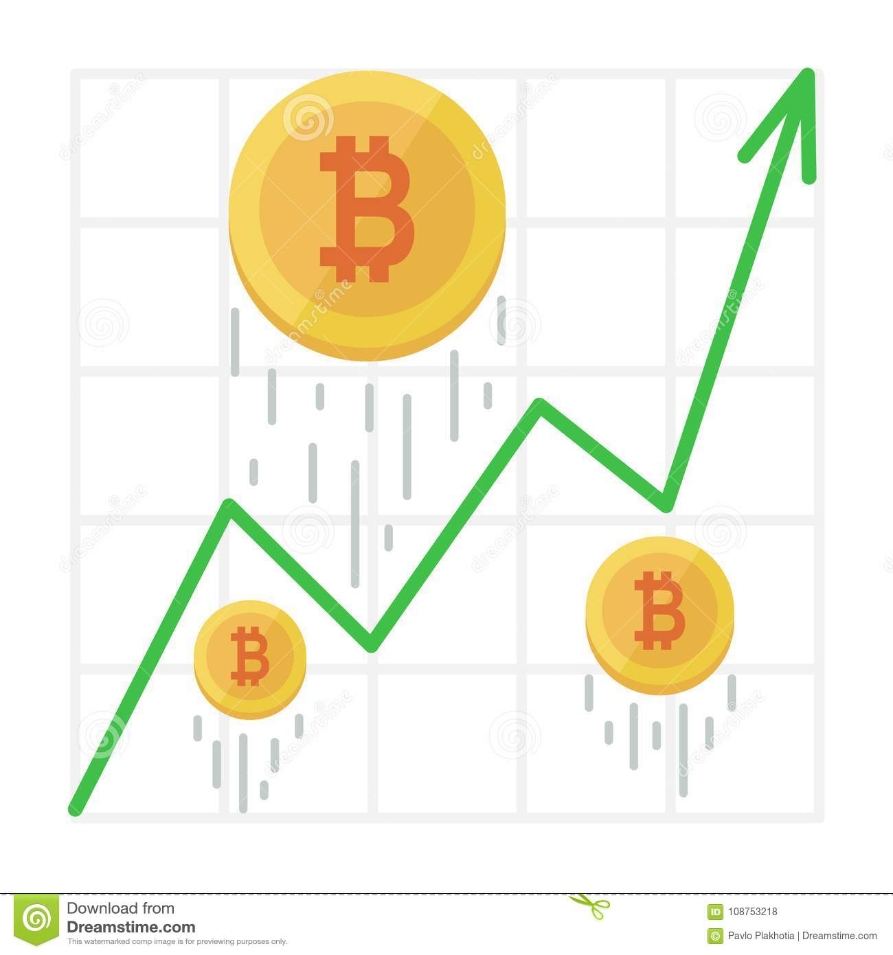 cryptocurrency bitcoin graph