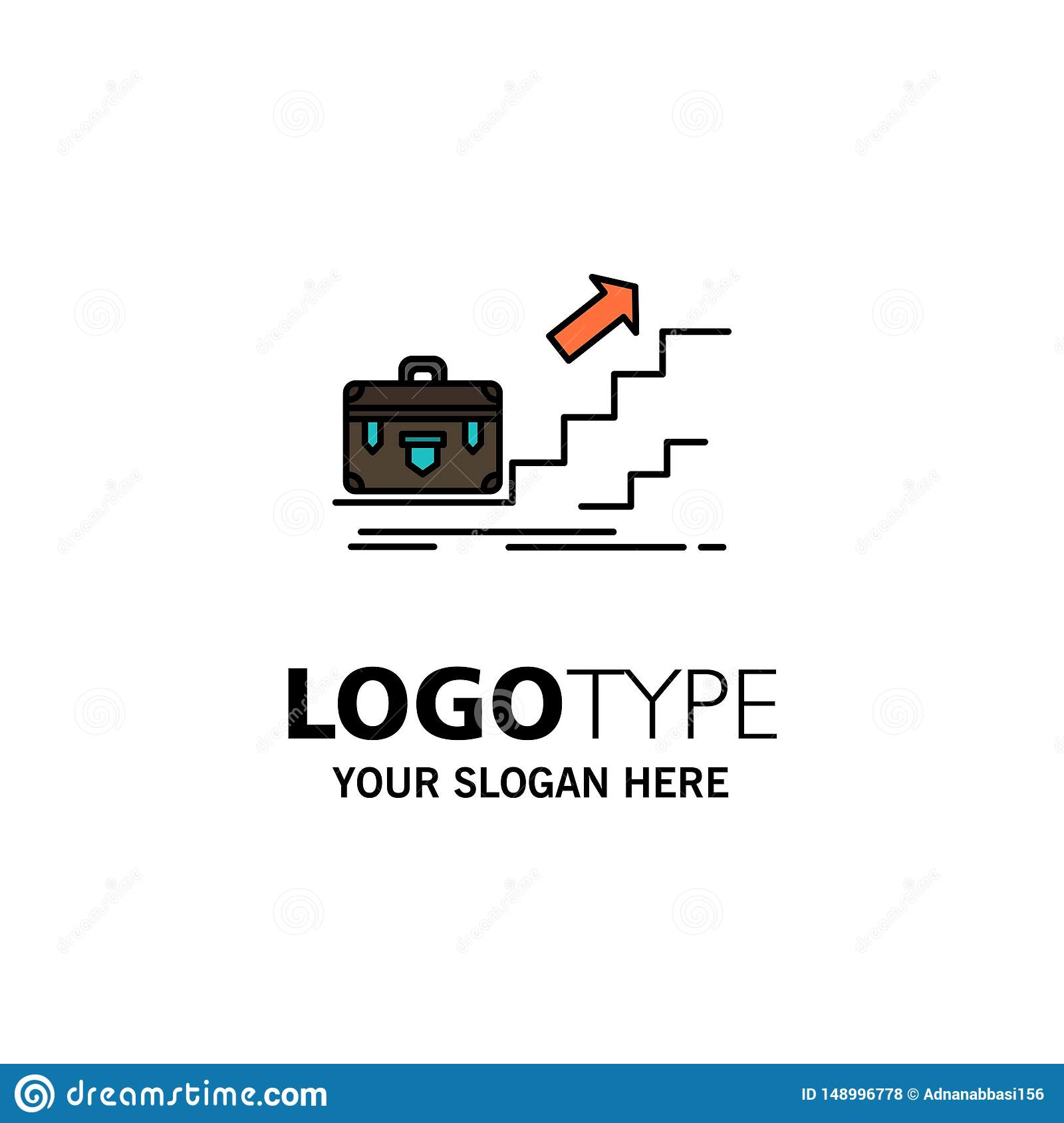 Growth, Business, Career, Leader, Leadership, Personal, Success Business Logo Template. Flat Color