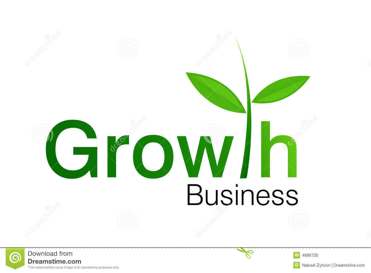 growth business logo royalty free stock photo   image 4686735