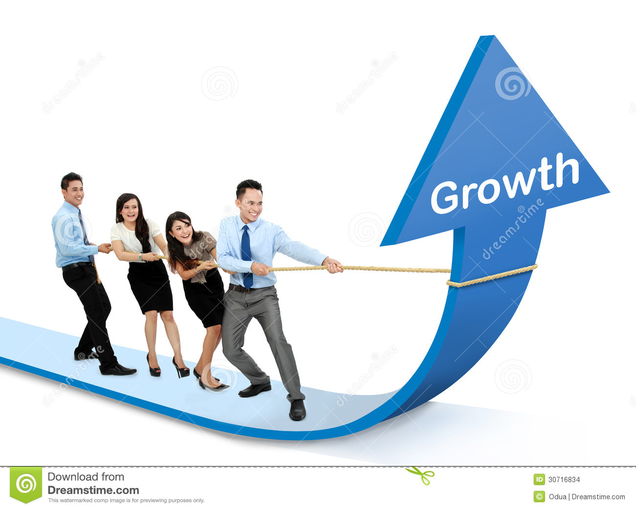 Growth chart concept Stock Business Growth Chart