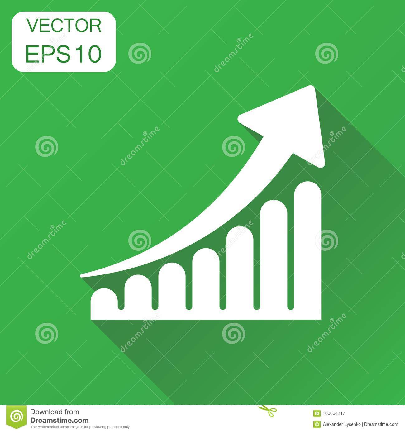 Growth chart icon business concept grow diagram pictogram vect growth chart icon business concept grow diagram pictogram vect simple financial ccuart Image collections